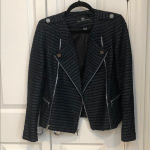 Tart Collection black/navy/silver tweed blazer